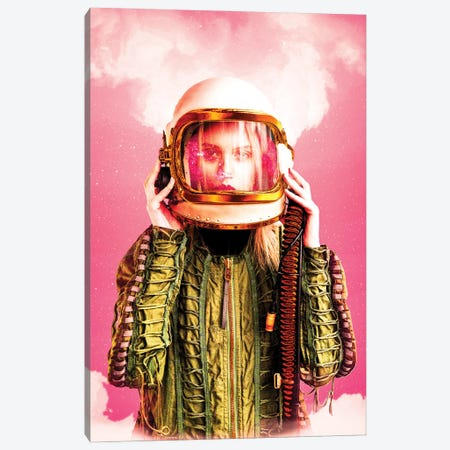 Space Girl Canvas Print #MNU66} by Manuel Luces Canvas Art Print
