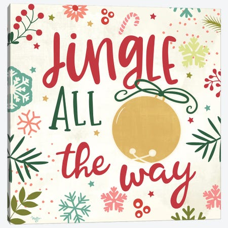 Jingle All the Way Canvas Print #MOB10} by Mollie B. Canvas Art Print