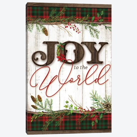 Joy to the World Canvas Print #MOB11} by Mollie B. Art Print