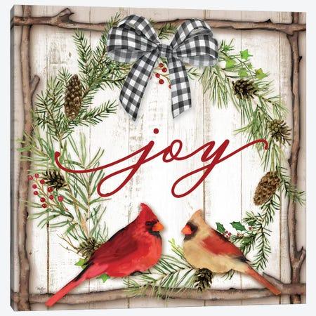 Joy Wreath Canvas Print #MOB12} by Mollie B. Canvas Art Print