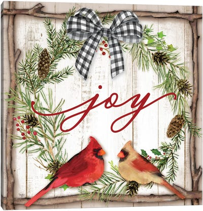 Joy Wreath Canvas Art Print
