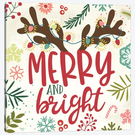 Merry & Bright Canvas Print #MOB15} by Mollie B. Canvas Wall Art