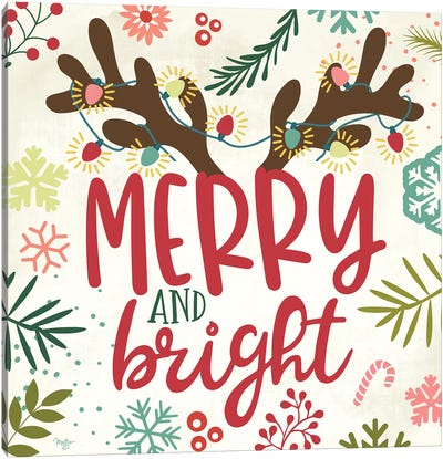Merry & Bright Canvas Art Print