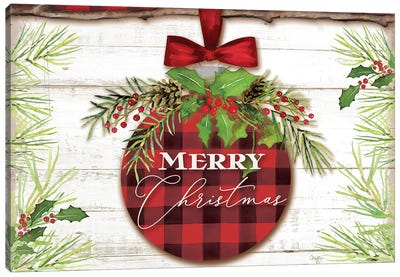 Merry Christmas Ornament Canvas Art Print