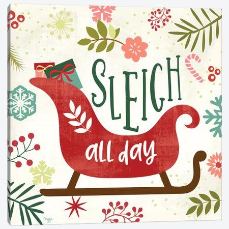 Sleigh Rides All Day Canvas Print #MOB24} by Mollie B. Canvas Print