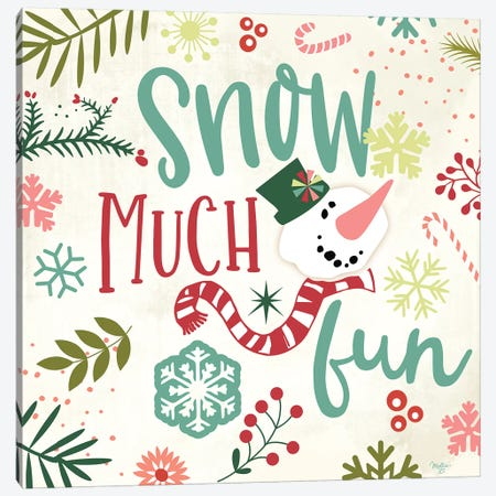 Snow Much Fun Canvas Print #MOB25} by Mollie B. Canvas Art Print