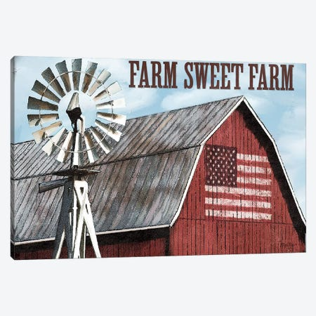 Farm Sweet Farm Canvas Print #MOB27} by Mollie B. Canvas Art Print
