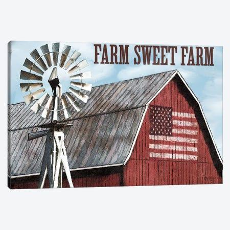 Farm Sweet Farm Canvas Print #MOB27} by Mollie B. Canvas Art Print