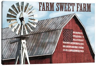 Farm Sweet Farm Canvas Art Print