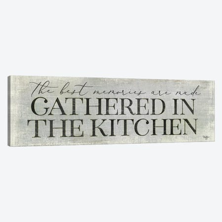 Gathered in the Kitchen Canvas Print #MOB28} by Mollie B. Canvas Artwork