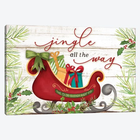 Jingle All the Way Canvas Print #MOB29} by Mollie B. Canvas Artwork
