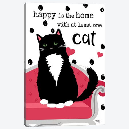 At Least One Cat 3-Piece Canvas #MOB2} by Mollie B. Canvas Print