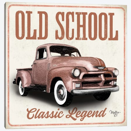 Old School Vintage Trucks I Canvas Print #MOB31} by Mollie B. Canvas Print