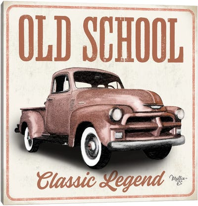 Old School Vintage Trucks I Canvas Art Print