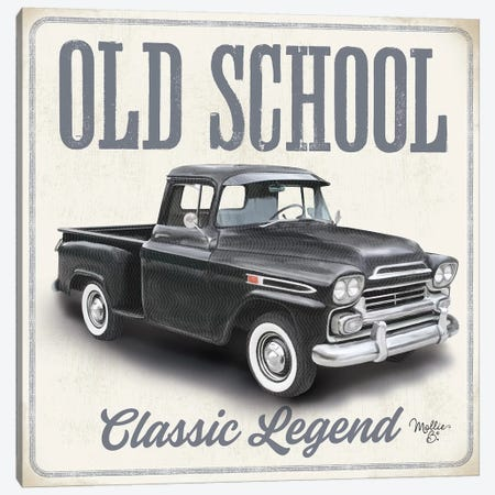 Old School Vintage Trucks II Canvas Print #MOB32} by Mollie B. Art Print
