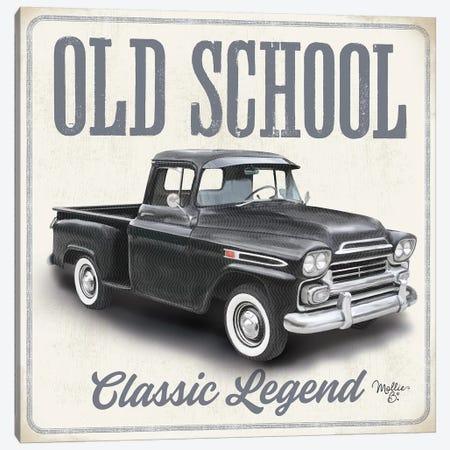 Old School Vintage Trucks II Canvas Print #MOB32} by Mollie B. Art Print