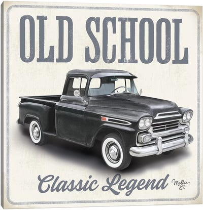 Old School Vintage Trucks II Canvas Art Print