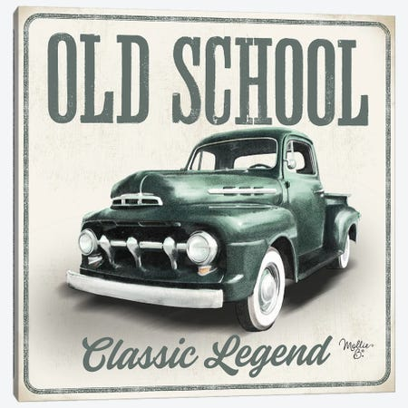 Old School Vintage Trucks III Canvas Print #MOB33} by Mollie B. Art Print