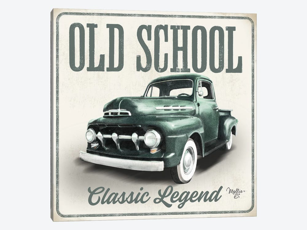 Old School Vintage Trucks III by Mollie B. 1-piece Canvas Print
