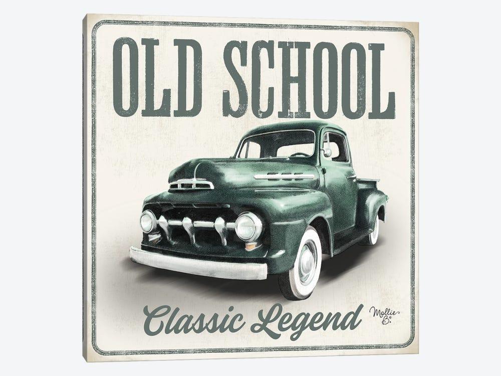 Old School Vintage Trucks III by Mollie B. 1-piece Canvas Print
