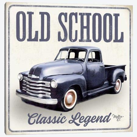 Old School Vintage Trucks IV Canvas Print #MOB34} by Mollie B. Canvas Art
