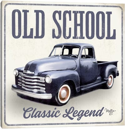 Old School Vintage Trucks IV Canvas Art Print