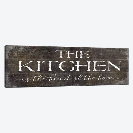 The Kitchen is the Heart of the Home Canvas Print #MOB35} by Mollie B. Canvas Art
