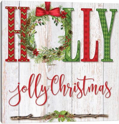 Holly Jolly Christmas Canvas Art Print