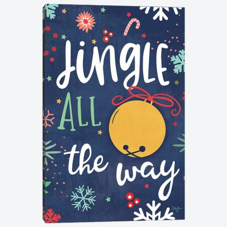 Jingle All the Way Canvas Print #MOB37} by Mollie B. Canvas Artwork