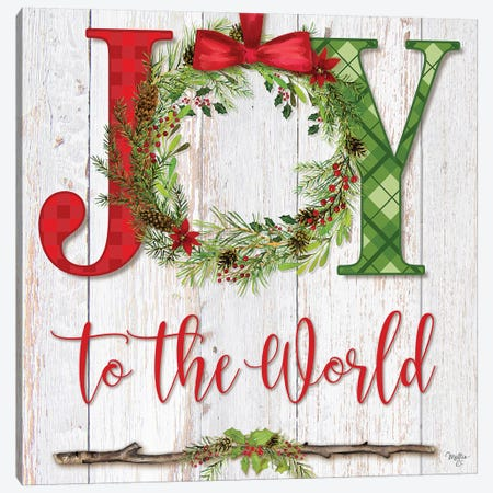 Joy To The World Canvas Print #MOB38} by Mollie B. Canvas Print