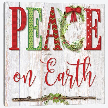Peace On Earth Canvas Print #MOB42} by Mollie B. Canvas Wall Art