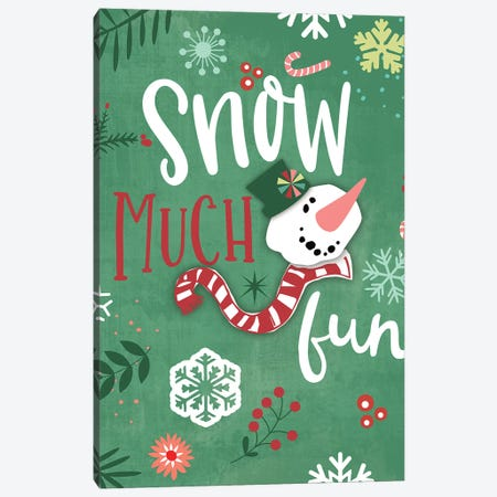 Snow Much Fun Canvas Print #MOB43} by Mollie B. Canvas Art