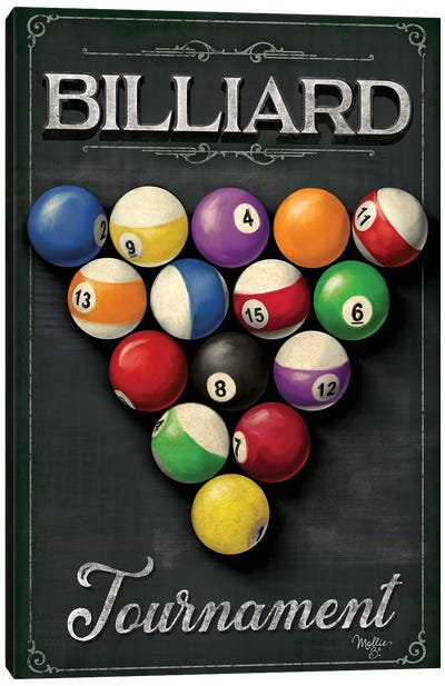 Billiards Tournament    Canvas Art Print