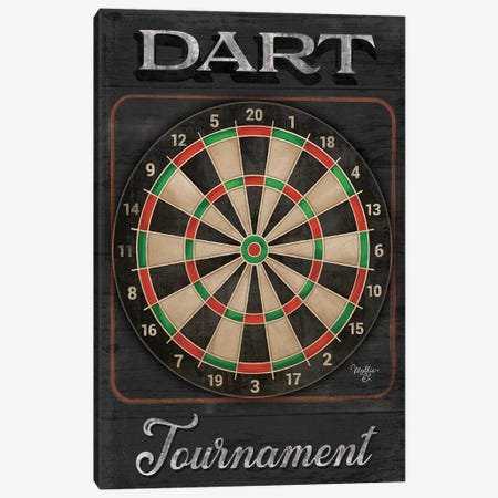 Dart Tournament   Canvas Print #MOB45} by Mollie B. Canvas Art Print