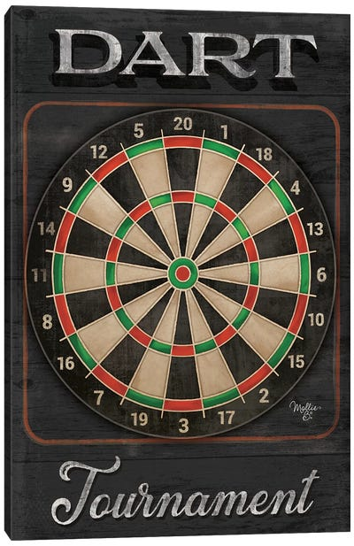 Dart Tournament   Canvas Art Print