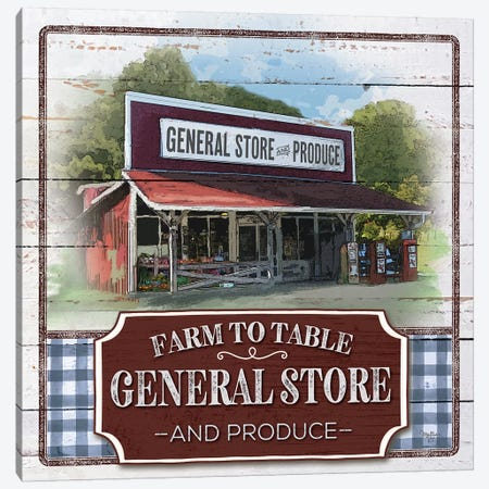 Farm to Table General Store Canvas Print #MOB46} by Mollie B. Canvas Art Print