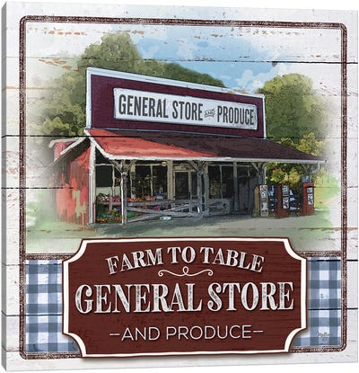 Farm to Table General Store Canvas Art Print