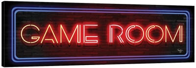 Game Room Neon Sign     Canvas Art Print