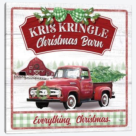 Kris Kringle Christmas Barn Canvas Print #MOB50} by Mollie B. Canvas Print