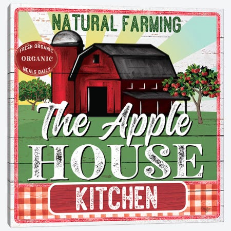 The Apple House Kitchen Canvas Print #MOB51} by Mollie B. Art Print