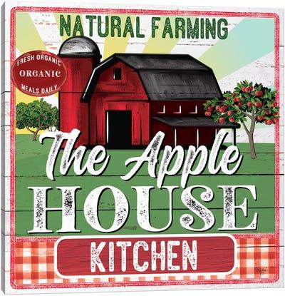The Apple House Kitchen Canvas Art Print