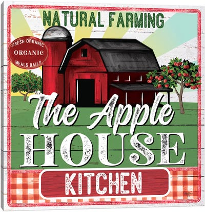 The Apple House Kitchen Canvas Art Print