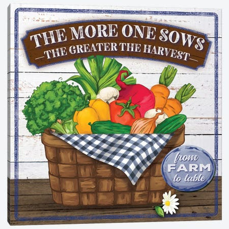 The More One Sows Canvas Print #MOB52} by Mollie B. Art Print