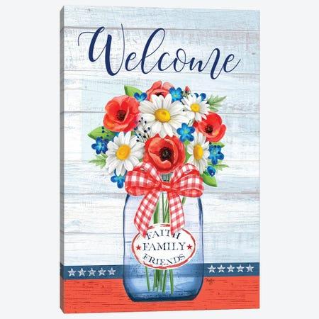 Patriotic Glass Jar Canvas Print #MOB54} by Mollie B. Canvas Wall Art