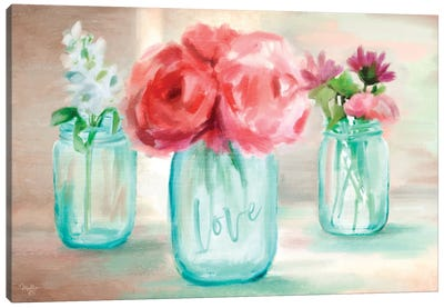 Floral Trio Canvas Art Print