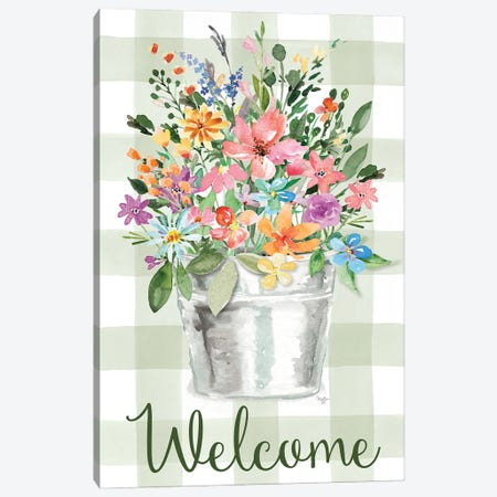 Welcome Flowers Canvas Print #MOB56} by Mollie B. Canvas Art