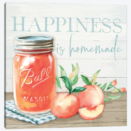 Happiness is Homemade Canvas Print #MOB59} by Mollie B. Art Print