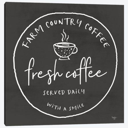 Fresh Coffee Canvas Print #MOB73} by Mollie B. Canvas Print