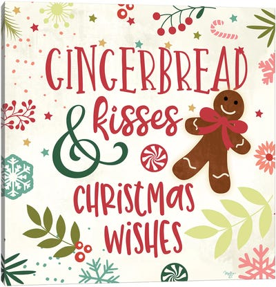 Gingerbread Kisses Canvas Art Print