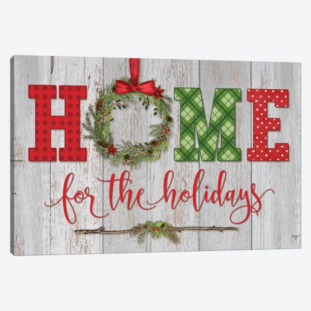 Home for the Holidays Canvas Print #MOB9} by Mollie B. Canvas Print